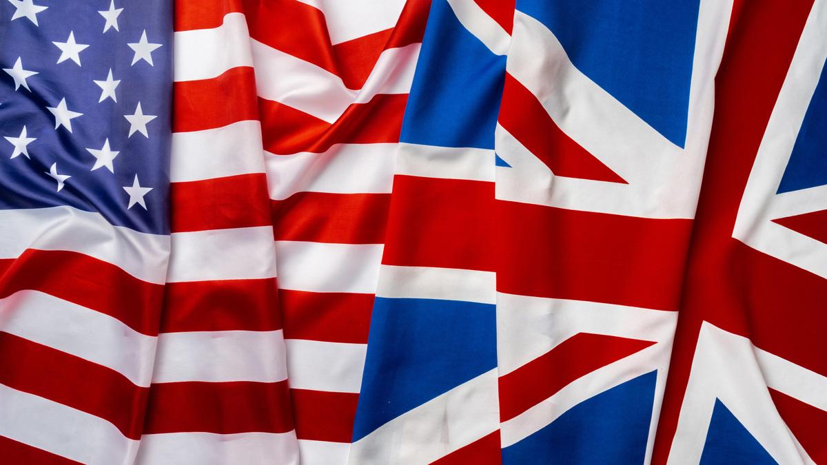 bandeira americana e britânica-bandeira americana-bandeira britânica